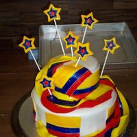 Colombia Birthday Cake I did this for a friend of the family, who is from Colombia. He is very old fashioned, and I researched the Country, and the traditional...