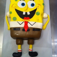 Spongebob   Very simple Spongebob cake. everything made of fondant. I like how clean it is. Thank you for looking!