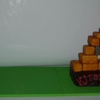 Angry Birds This is Rice Crispy treats and chocolate cake! It is world 1 level 20...as my client was turning 20...