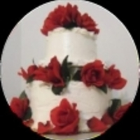 Red Rose Wedding Cake   This Red Rose cake is part of my no bake wedding cake eBook!