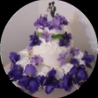 No Bake Purple Wedding Cake This was created for my ebook.