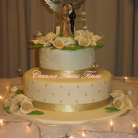 Golden Wedding Cake.