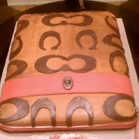 Coach Bag home made fondant thanks for the recipe and buttercream...