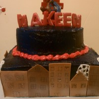 Spiderman buttercream and fondant