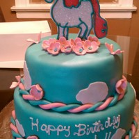 Unicorn buttercream and fondant