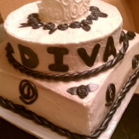 Ms Diva buttercream icing and fondant crown