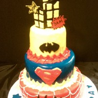 Super Hero's buttercream and fondant...thanks for the idea.... :-)