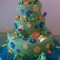 Sleeping With The Frogs fondant covered cake