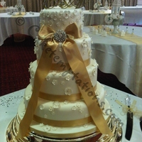 Romantic 4 Tier Wedding Cake