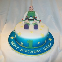Buzz Lightyear   Buzz Lightyear birthday cake with hand made edible figure. I made this for my grandson's 1st birthday.