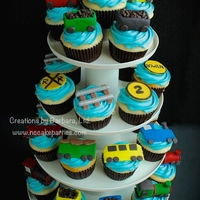 Train Cupcakes Toppers are fondant :).