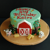 Farm Birthday Fondant decorations.
