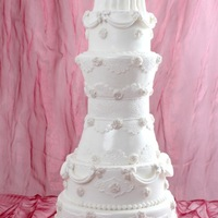 8 Layered White Wedding Cake   8 layers wedding cake.