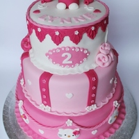 Hello Kitty Cake   Pink, White Hello Kitty Cake.