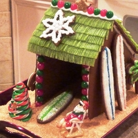 Gingerbread Surf Shack My husband is an avid surfer, so he gets his own palapa every Christmas!