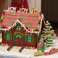 Gingerbread House Another gift for the grandkids, and major fun for me! I love Christmas...