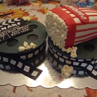 Movie Cake This was made for my nephew who loves everything movies.
