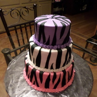 Zebra Print Birthday Cake Buttercream Icing With Fondant Stripes Zebra print Birthday cake. Buttercream icing with fondant stripes.