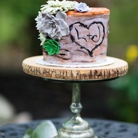 "Backyard Wedding This was done for a friends small backyard wedding. Her hubby made the cupcake and small 6"" cake stands! Unfortunately they didn'..."