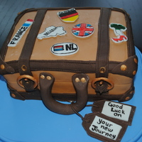 Suitcase Cake This was a farewell cake that I made for friends, all the stickers on the cake are all the places they have been. This was a fun cake to...