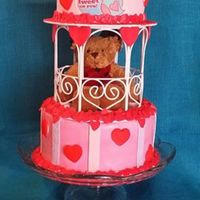 Bear Hearts... *this was a fun cake that my grand daughters and I did together
