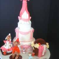 Lets Make A Dress For A Princess! Magical scene made out of fondant and gumpaste.