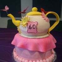 My First Attempt At A Teapotall Edible With The Exception Of The Butterflies Ran Out Of Time To Do Them Top Handle Spout And Flower My first attempt at a teapot...all edible with the exception of the butterflies (ran out of time to do them). Top, handle, spout and...