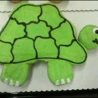Pull Apart Turtle 12 regular cupcakes with buttercream