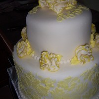 "Yellow Carnations I made this cake for a customer who wanted carnations and ""gold"" so I used some petal dust on the edges of the carnations and..."