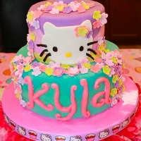 Hello Kitty! Hello Kitty birthday cake for a little girl turning 5! She loved it, her parents loved it, everyone was happy. All fondant. Top tier was...