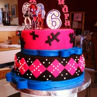 Monster High Birthday Cake For My Baby I am a fondant novice and my first two tries at fondant covered cakes were disasters -third time's a charm. Duff's fondant is...