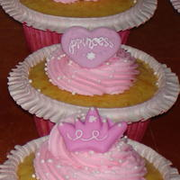 Cupcakes For My Princess Cupcakes for my daughter's birthday at Kindergarten. WASC recipe cake and Buttercream Dream frosting. Used the Wilton icing...