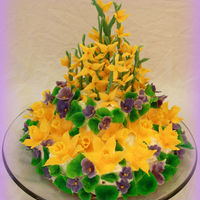 Tiramisu Cake With Flowers Made Of Modeling Chocolate Daffodils Violets And Forsythia Are The Symbols Of Spring For Me Tiramisu cake with flowers made of modeling chocolate. Daffodils, violets and forsythia are the symbols of spring for me.