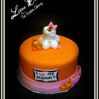 Mummy Baby Shower Cake Design was based off a picture that was emailed to me.... What a cute cake design! I don't know who made the original 2 tier version,...