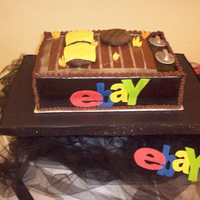Groom's Cake for a groom that loves to grill, and buys everything on ebay