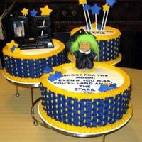 Troll Wisdom For The Graduate According to her mother, Katie, the graduate looked a little like a Troll when she was a toddler. So, when we designed the cake, we added a...