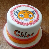 """tiger"" First Birthday Cake This is a cake for a little girl turning one. According to the time of her birth, in her Chinese culture she is a tiger - hence the tiger..."