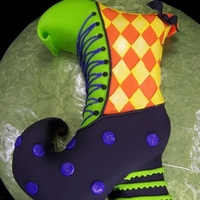 Witch Shoe Cake   Carved cake and covered in fondant