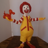 Ronald  This is my first Cake Structure. I had a lot of fun doing him. Done for publicity for Ronald McDonald House Charities of San Diego (with...