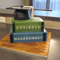 Stack Of Books   Made this cake for a friend who just graduated from University. TFL