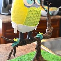 Beach Baby Shower Owl Cake The Beach family welcomes a new baby boy, his nursery is decorated with owls. This cake was for the shower to match. Dark Chocolate Cake,...