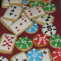 Playing Cards And Poker Chips Sugar cookies with royal icing. Details are royal icing dragged with a toothpick. More than 150 playing cards including 2+ decks, and poker...