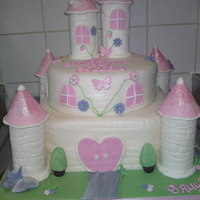 Cream Fairy Tale Castle this was actually for a christening but i usually do my castles for birthdays! i didnt want it to be too over the top in colour so decided...