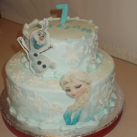 Frozen Cake With Edible Images Frozen Cake with edible images.
