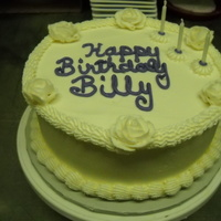 Billy everything had to be white except the writing