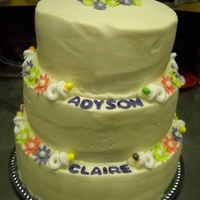 Addison chocoalte cake with vanilla buttercream; fondant decorations