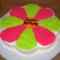 Flower Power Fudge cake with vanilla buttercream