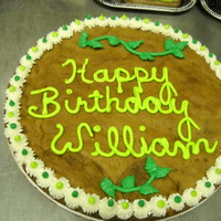 William   ginger cookie with buttercream decorations