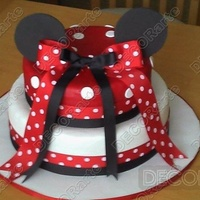 Celebration Cakes By Adrisss   Minnie Mouse Two Tier cake with fondant