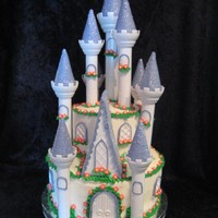 1St B-Day Castle Cake This was made for my cousin's childs birthday.